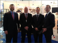 The British Ambassador to Germany, Simon McDonald, visits the Precision Ceramics Stand at Hannover Messe 2013