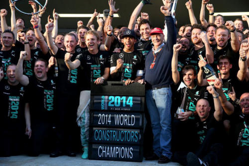 2014 World Constructors Champions - Mercedes AMG - High Performance Powertrains