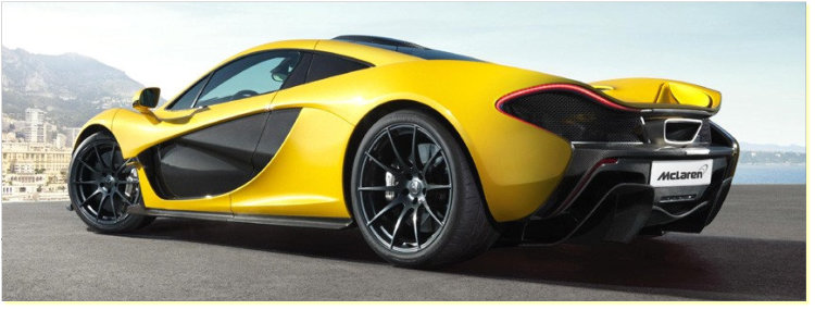 The McClaren P1 has brake discs coated with silicon carbide, one of the hardest materials known to man.