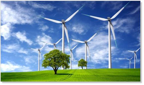 A Field of Wind Turbines