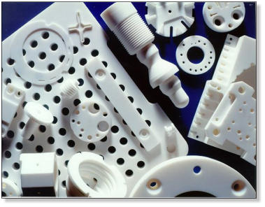Macor components engineered by Precision Ceramics.